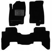 Коврики в салон для Nissan Pathfinder '11-14 текстильные, черные (Люкс) 3 клипсы