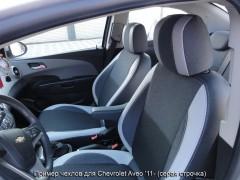 MW Brothers Авточехлы Premium для салона Chevrolet Aveo '11- красная строчка (MW Brothers)