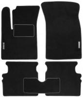 Коврики в салон для Chevrolet Aveo '04-11 текстильные, черные (Стандарт)