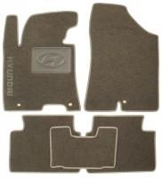 Коврики в салон для Hyundai i30 FL '13-16 текстильные, серые (Люкс)