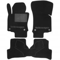 Коврики в салон для Volkswagen Jetta V '06-10 текстильные, черные (Люкс) 4 клипсы