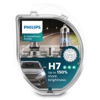 Автомобильная лампочка Philips X-tremeVision Pro150 H7 +150% 12972XVPS2 (комплект 2шт.)