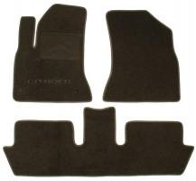 Коврики в салон для Citroen C4 Picasso '06-13 (2 ряда) текстильные, серые (Люкс) 2 клипсы