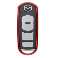 """Чехол для автоключа """"Mazda"""" от 2013 г LaManche красный"""