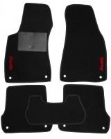 Коврики в салон для Audi A4 '08- текстильные, черные (Стандарт)