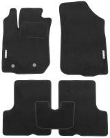 Коврики в салон для Renault Duster '10-18, 4/2WD, текстильные, черные (Стандарт)