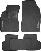 Коврики в салон для Renault Fluence '09- текстильные, серые (Стандарт)