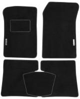 Коврики в салон для Renault Kangoo '97-09 текстильные, черные (Стандарт)