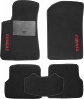 Коврики в салон для Renault Laguna '07-15 текстильные, черные (Стандарт)