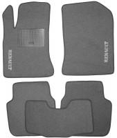 Коврики в салон для Renault Latitude '10- текстильные, серые (Стандарт)