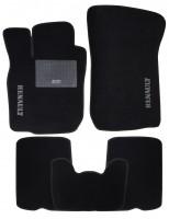 Коврики в салон для Renault Logan '04-12 текстильные, черные (Стандарт)