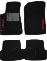 Коврики в салон для Renault Megane '08-16 текстильные, черные (Стандарт)