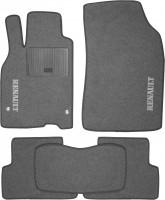 Коврики в салон для Renault Megane '08-16 текстильные, серые (Стандарт)