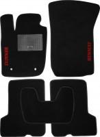 Коврики в салон для Renault Sandero '13- текстильные, черные (Стандарт)