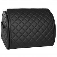 Органайзер в багажник Leather ромб, черный (Inliner)