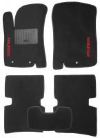 Коврики в салон для Hyundai Accent (Solaris) '11-17 текстильные, черные (Стандарт)