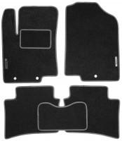 Коврики в салон для Hyundai Accent (Solaris) '11-17 текстильные, серые (Стандарт)
