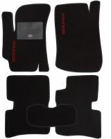 Коврики в салон для Hyundai Accent '06-10 текстильные, черные (Стандарт)