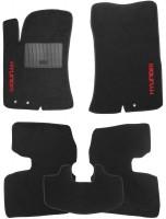 Коврики в салон для Hyundai Elantra HD '06-10 текстильные, черные (Стандарт)