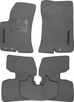 Коврики в салон для Hyundai Elantra HD '06-10 текстильные, серые (Стандарт)