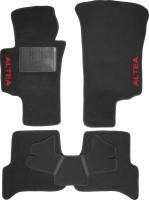 Коврики в салон для Seat Altea '04-15 текстильные, черные (Стандарт)