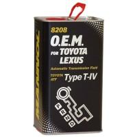 Трансмиссионное масло Mannol Avtomatic Special ATF T-IV O.E.M. for Toyota/Lexus 8208, 1 л