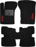 Коврики в салон для Hyundai Getz '02-11 текстильные, черные (Стандарт)