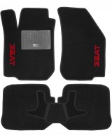 Коврики в салон для Seat Leon '00-05 текстильные, черные (Стандарт)