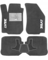 Коврики в салон для Seat Leon '00-05 текстильные, серые (Стандарт)