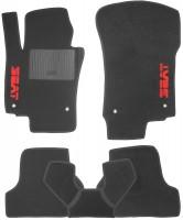 Коврики в салон для Seat Leon '05-12 текстильные, черные (Стандарт)
