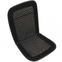 Накидка-массажер на сиденье, круглая косточка, лен Elegant EL 100 658 черная