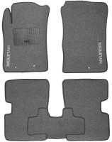 Коврики в салон для Hyundai i-10 '07-13 текстильные, серые (Стандарт)