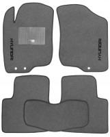 Коврики в салон для Hyundai i30 FD '07-12 текстильные, серые (Стандарт)