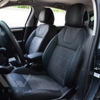 Авточехлы Leather Style для салона Citroen C4 '11-, серая строчка (MW Brothers)