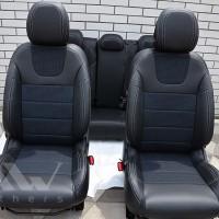 Авточехлы Dynamic для салона Citroen C4 '11-, серая строчка (MW Brothers)
