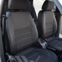 Авточехлы Premium для салона Daewoo Lanos '98-, темные, серая строчка (MW Brothers)