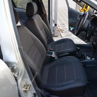 Авточехлы Premium для салона Daewoo Lanos '06-, Pick-up темные, серая строчка (MW Brothers)
