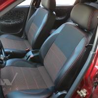 Авточехлы Premium для салона Daewoo Sens '98-, красная строчка (MW Brothers)