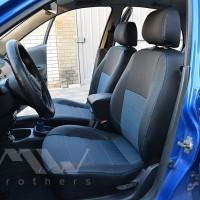 Авточехлы Premium для салона Daewoo Sens '98-, синяя строчка (MW Brothers)