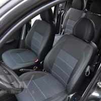 Авточехлы Premium для салона Fiat Doblo '01-09 Cargo (1+1) серая строчка (MW Brothers)
