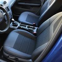 Авточехлы Dynamic для салона Ford Focus II '04-11, хетчбек/седан синяя строчка (MW Brothers)