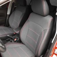 Авточехлы Premium для салона Ford Focus III '14-, красная строчка (MW Brothers)