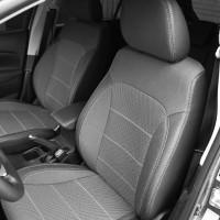 Авточехлы Premium для салона Ford Focus III '14-, серая строчка (MW Brothers)