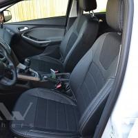 Авточехлы Dynamic для салона Ford Focus III '14-, серая строчка (MW Brothers)