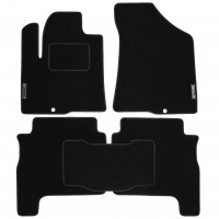 Коврики в салон для Hyundai Santa Fe '06-10 CM текстильные, черные (Стандарт)