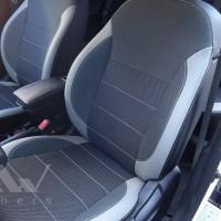 Авточехлы Premium для салона Hyundai Accent (Solaris) '11-17, хетчбек светлые вставки (MW Brothers)