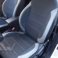 Авточехлы Premium для салона Hyundai Accent (Solaris) '11-17 седан светлые вставки, серая строчка (MW Brothers)