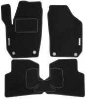 Коврики в салон для Skoda Fabia II '07-14 текстильные, черные (Стандарт)