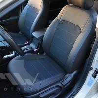 Авточехлы Dynamic для салона Hyundai Elantra AD '16-, синяя строчка (MW Brothers)