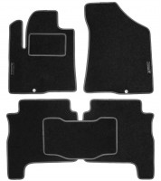 Коврики в салон для Hyundai Santa Fe '06-10 CM текстильные, серые (Стандарт)